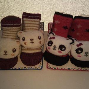 Zak & Zoey Accessories - 4 pairs of ZAK & ZOEY  Newborn Baby 3D Animal Sock